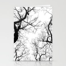 Black And White Tree Top… Stationery Cards