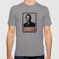 Obey Steve Jobs Mens Fitted Tee Athletic Grey SMALL