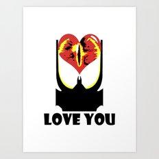 Eye Love You Art Print
