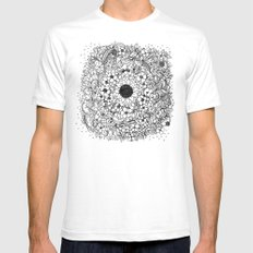Flower circle SMALL Mens Fitted Tee White