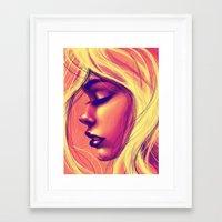 Framed Art Print featuring Sunshine by Suarez Art
