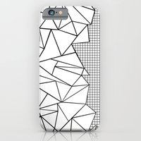 iPhone & iPod Case featuring Abstraction Outline Grid on Side White by Project M