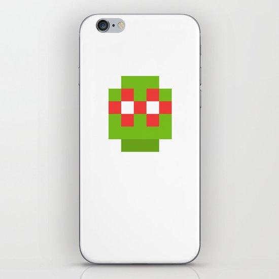hero pixel green red iPhone & iPod Skin