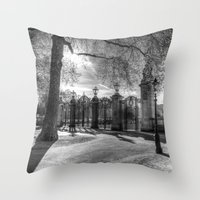 Canada Gate Green Park London Throw Pillow