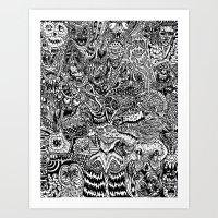 Closet Sickness Art Print