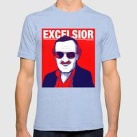 Stan Lee / Excelsior Mens Fitted Tee Tri-Blue SMALL