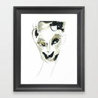 a faint smile Framed Art Print
