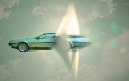 Supersonic Delorean Art Print