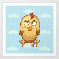 Happy Chick Art Print