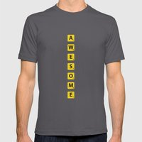 Awesome Scrabble Mens Fitted Tee Asphalt SMALL