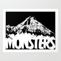 Monsters ( The Living Mo… Art Print