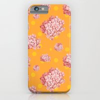iPhone & iPod Case featuring hydrangea polka by cardboardcities