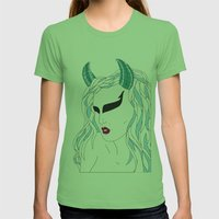 Taurus / 12 Signs of the Zodiac Womens Fitted Tee Grass SMALL