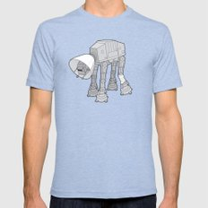 Battle Damage Mens Fitted Tee Tri-Blue SMALL