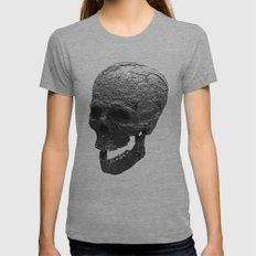 IRON SKULL Womens Fitted Tee Athletic Grey SMALL