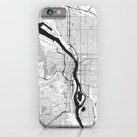 iPhone Cases featuring Portland G by City Map Art