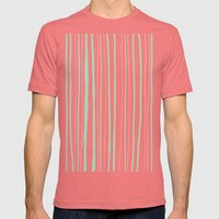 Vertical Living Mint Mens Fitted Tee Pomegranate SMALL