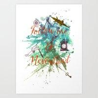 Follow Me To Neverland Art Print