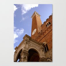 Clock Tower in Sienna Canvas Print