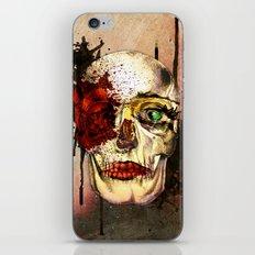 skull3 iPhone & iPod Skin