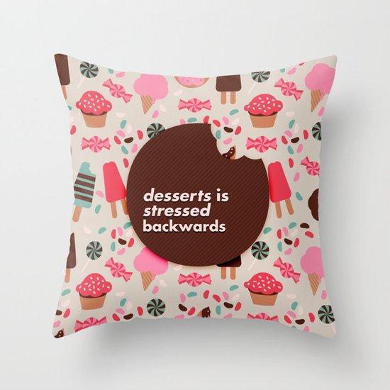desserts! Throw Pillow