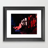 Glitch Space 2 Framed Art Print