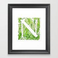 Letter N Framed Art Print