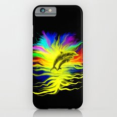 Dolphins in the Sunshine - Fantasy Rainbow-Art iPhone 6 Slim Case