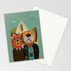 dog cat gothic Stationery Cards