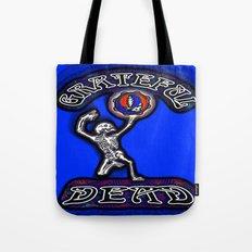 Grateful Dead Dancing Skeleton Beautiful Elegant Optical Illusion Design Tote Bag