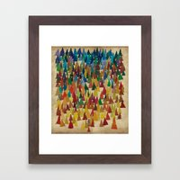 Colorful Conifers Framed Art Print