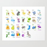 Illustrated Alphabet Art Print