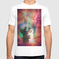 The Ancient Cat Thinking About The Early Days White Mens Fitted Tee SMALL