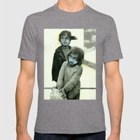 Double Trouble Mens Fitted Tee Tri-Grey SMALL