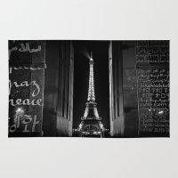 Peace ... Eiffel Tower Rug