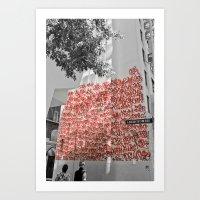 Graffiti On Abercrombie … Art Print