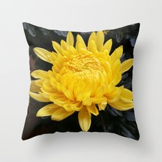 YELLOW 'MUM Throw Pillow