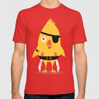 Pirate Chick Mens Fitted Tee Red SMALL