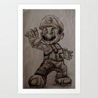 Mario Art Print