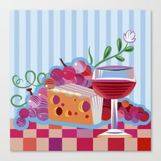 Wine & Cheese Party Canvas Print