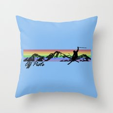 Off Piste Ski Throw Pillow