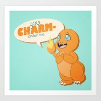 You CHARMander Me Art Print