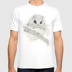 Fuzzball-white White Mens Fitted Tee SMALL