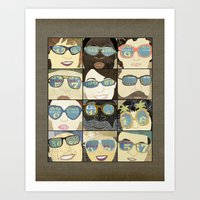 Glasses Vertical Art Print