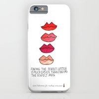 iPhone & iPod Case featuring Lipstick >Men by Bouffants and Broken Hearts