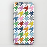 Houndstooth Colour iPhone & iPod Skin