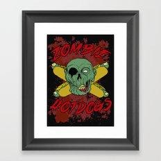 zombie hotdogs part deux Framed Art Print