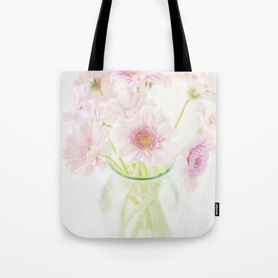 Pink Gerberas In A Vase {Light Textured Version} Tote Bag