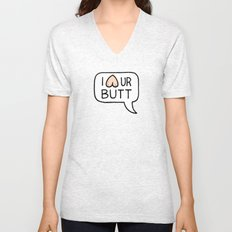 I LUV UR BUTT Unisex V-Neck