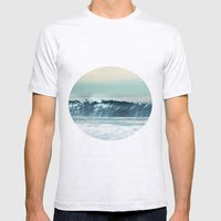 Ocean Waves  Mens Fitted Tee Ash Grey SMALL